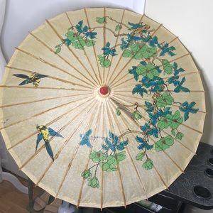 Vintage Asian parasol bohemian umbrella